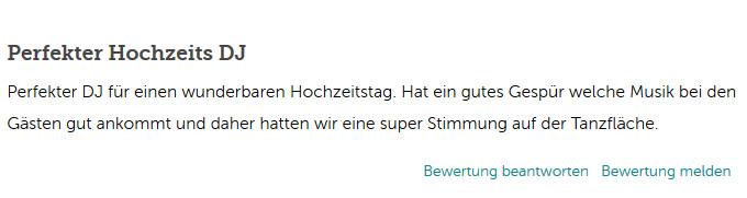 DJ Bewertung bei gutgemacht.at